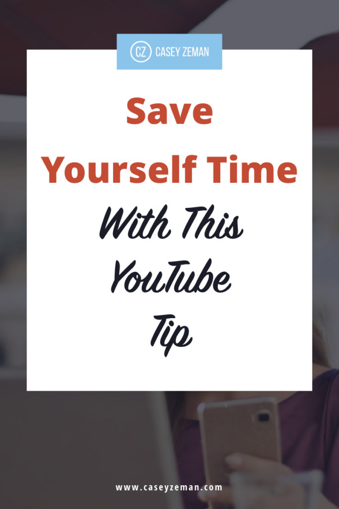 Save Yourself Time with this YouTube Tip.001