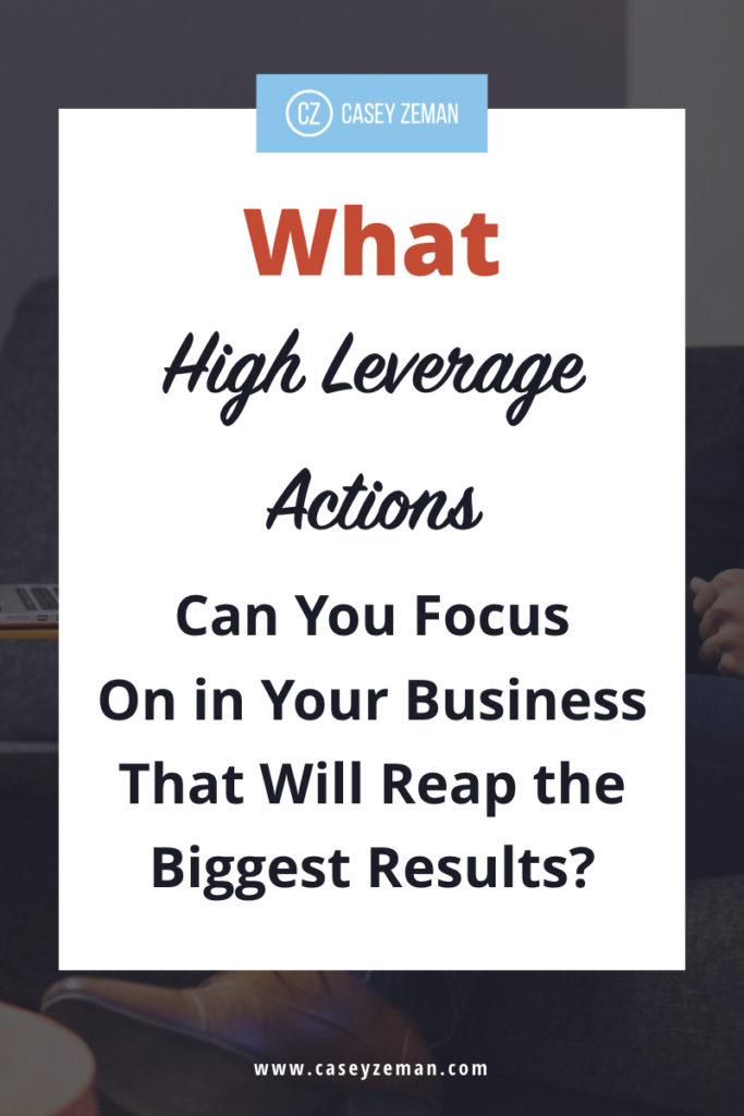 What high leverage actions can you focus on in your business that will reap the biggest results?.001