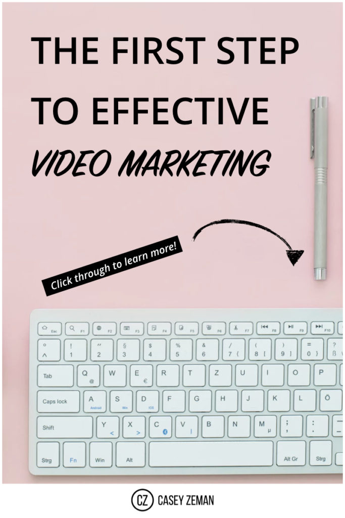 The first step in Video:Video Marketing.001