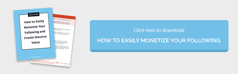 How to Easily Monetize Your Following and Create Massive Value - Checklist
