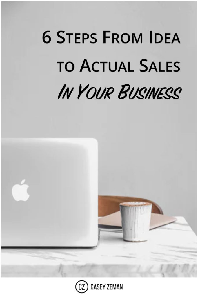 6 Steps From Idea to Actual Sales In Your Business.001