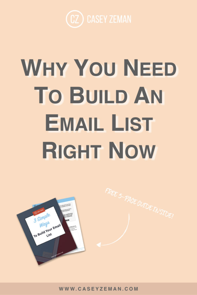 Why You Need To Build An Email List Right Now