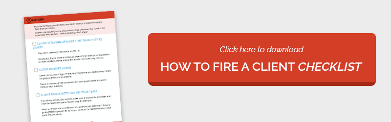 It's Time to Fire a Client - Checklist